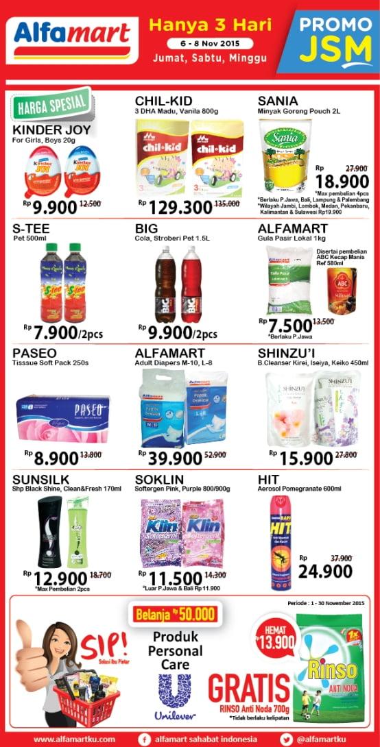 Promo Alfamart, Promo Alfamart Akhir Pekan, Promo Alfamart JSM, Promo JSM, Promo Terkini
