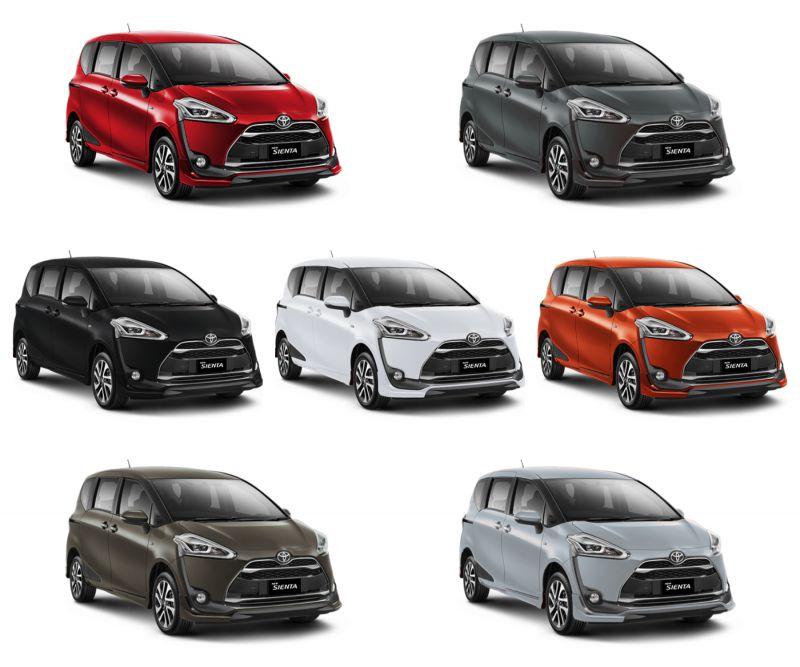 Warna Mobil Toyota All New Sienta