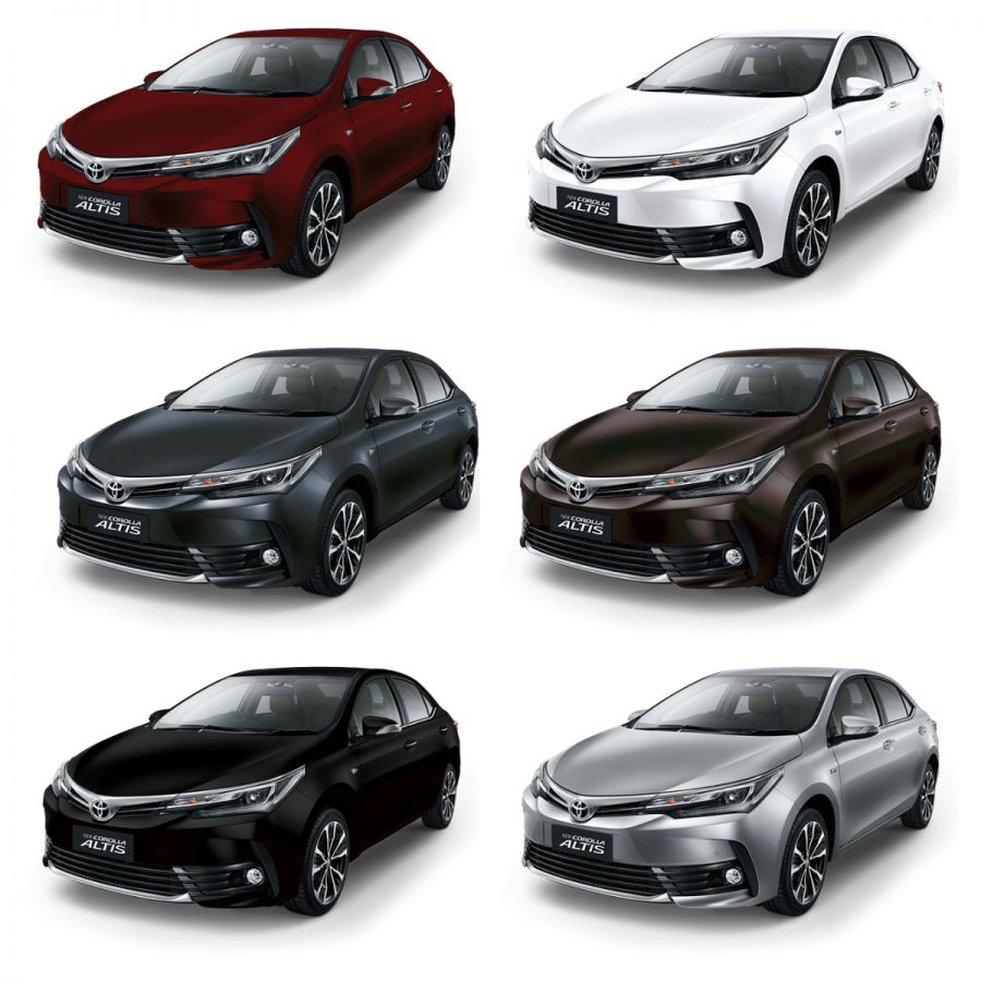 Mobil Toyota New Corolla Altis, Warna Toyota New Corolla Altis