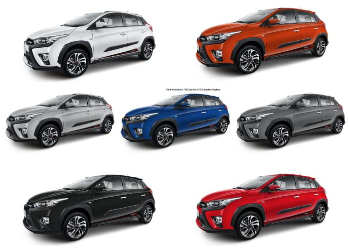 Warna Toyota Yaris Heykers