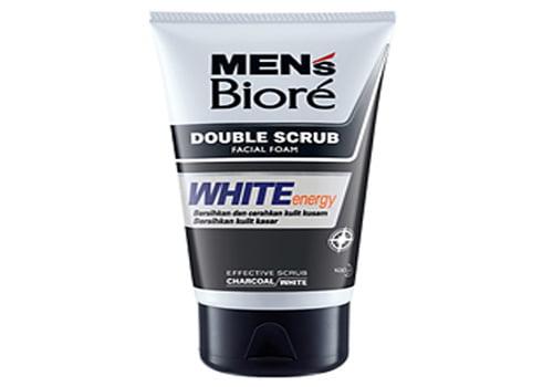 Kao Biore Facial Foam Men's Double Scrub White Energy