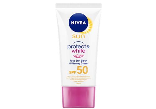 NIVEA Sun Face Protect & White Cream SPF50, 10 Daftar Rekomendasi Sunblock Terbaik dan Harga Terbaru