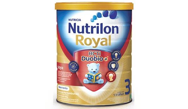 Susu Formula Bebas Laktosa Terbaik, daftar harga susu bebas laktosa, Nutrilon Royal Soya 3 ActiDuoBio+