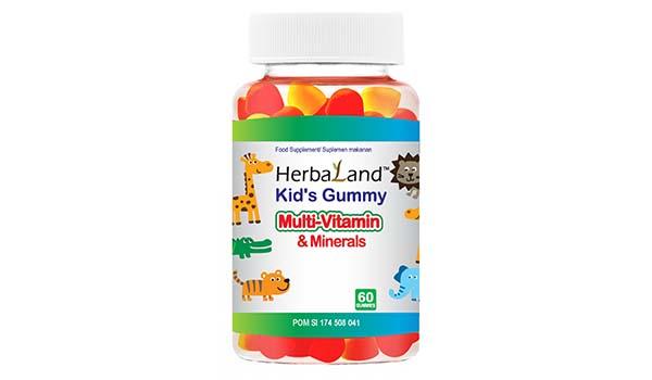 Herbaland Kid's Gummy Multivitamin & Minerals, merk vitamin anak yang bagus