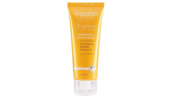 Wardah C Defense Energizing Cream Wash, Macam-Macam Produk Wardah Skincare