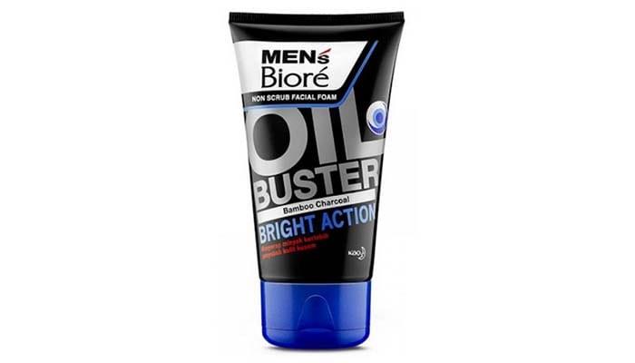 Biore Men Facial Face Bamboo Charcoal, pencuci wajah untuk pria