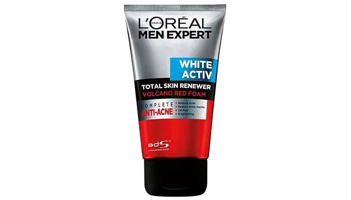 LOreal Men Expert White Activ Volcano Red Foam, pencuci wajah untuk lelaki