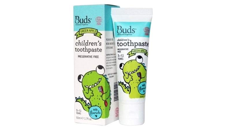 Buds Green Apple Childrens Toothpaste