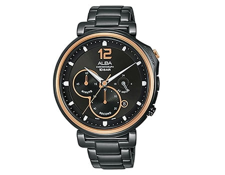 Alba AT3E12X1 Chronograph Men Black