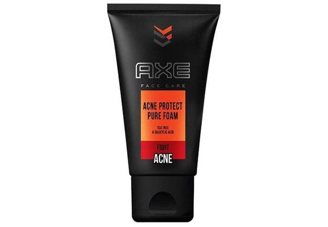 Axe Acne Protect Pure Foam,sabun cuci muka pria untuk menghilangkan jerawat
