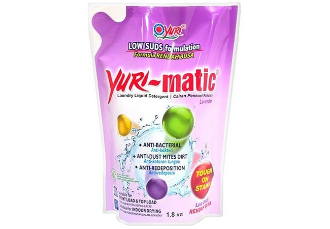 Yuri Matic Laundry Liquid Detergent Anti Bacterial Pouch