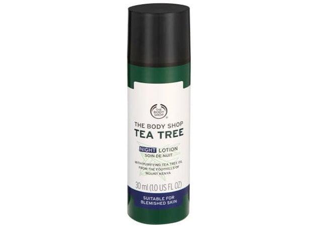 The Body Shop Tea Tree Blemish Fade Night Lotion, pelembab untuk kulit berminyak
