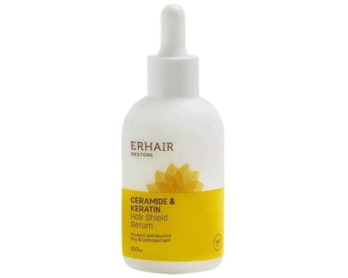 Erhair Restore Ceramide & Keratin Shield Serum, Serum Rambut Yang Bagus Untuk Rambut Kering