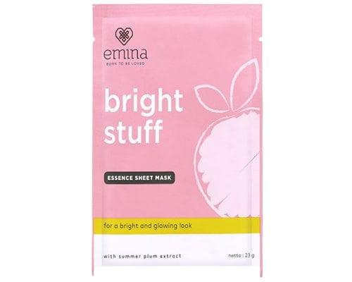 Emina Bright Stuff Essence Sheet Mask, Skin Care Emina Untuk Kulit Berminyak