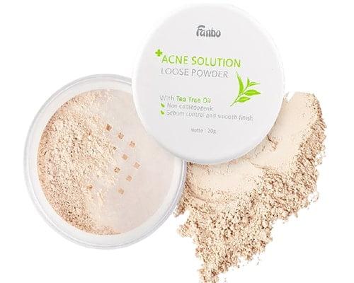 Bedak Halal Untuk Kulit Berminyak, Fanbo Acne Solution Loose Powder