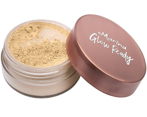 Bedak Halal Untuk Kulit Berminyak, Marina Glow Ready Loose Powder